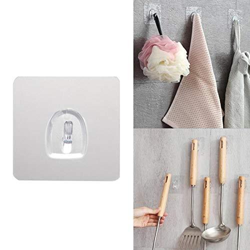 Oneriverspring40 10 Stks Transparant Sterk Zelfklevende Deur Wandhangers Haakjes Voor Siliconen Opslag Opknoping Keuken Magic Badkamer Accessoires
