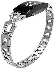 Metal Polsband, Compatibel met Fitbit Inspire Strap, RVS Knipsel Vervanging Bands voor Fitbit Inspire/HR Strap Fitness Tracker
