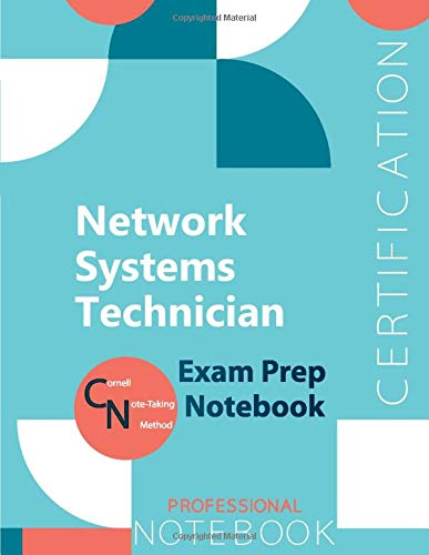 """Network Systems Technician Certification Exam Preparation Notebook, examination study writing notebook, Office writing notebook, 154 pages, 8.5"""" x 11"""", Glossy cover"""