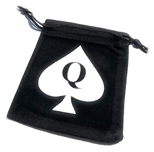 Alternative Intentions Queen of Spades Velvet Jewelry Bag - Hotwife - Cuckold - Sissy - Swinger Lifestyle - BBC