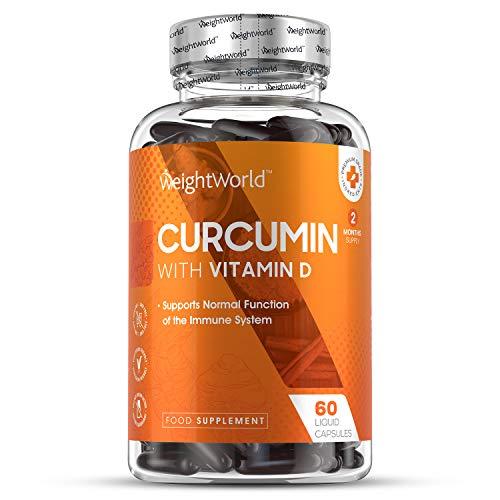 NEUES DESIGN Premium Curcuma Kapseln mit Vitamin D3 - Laborgeprüft in Deutschland - Curcumin 185x höhere Bioverfügbarkeit in nur 1 Kapsel - 500mg Kurkuma Hochdosiert und Vitamin D Tagesbedarf