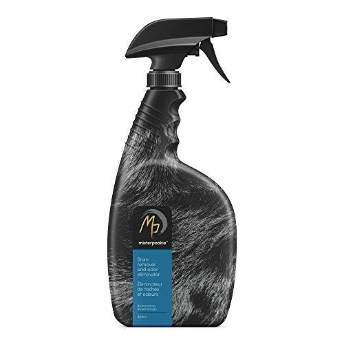 Mister Pookie Biotech Pet Stain Remover & Odor Eliminator - Bacteria Based for Dog & Cat Urine, Feces, Vomit - Carpet spot Cleaner