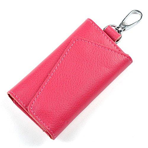 Portachiavi borsellino da Donna Uomo in Pelle (Fuschia)
