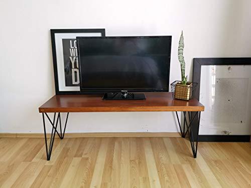 MUEBLE PARA TV industrial, minimalista y moderno de madera