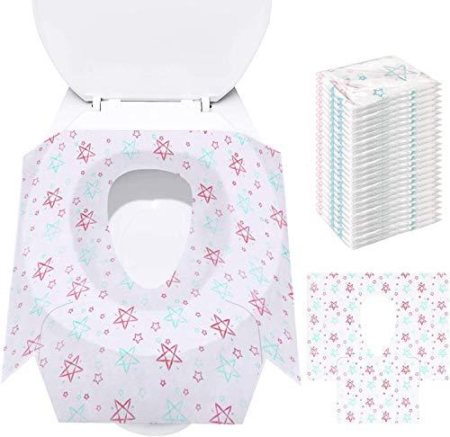 Cubierta del asiento para ir al baño - Cubiertas desechables para el asiento del inodoro ✅