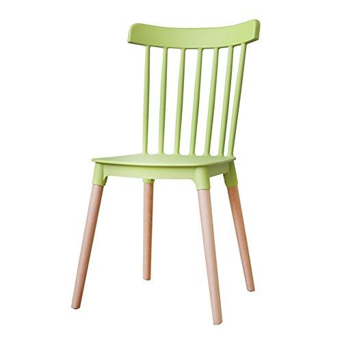 Flashing PP-eetkamerstoel, natuurlijke vaste houten poten met creatieve rugleuning-stoelen, 84 x 43 x 46 cm