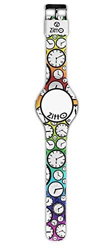 Orologio ZITTO FLASH EDITION a led con cinturino in silicone MULTICOLOR ORA LEGALE MINI