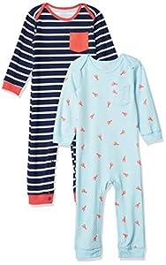 Amazon Essentials - Pack de 2 peleles para niño, Boy Lobster, Bebé prematuro