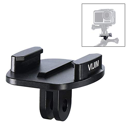 Flycoo2 Adapter Montage Anschluss für Action-Kameras für GoPro Hero 8 7 6 5 4 3 für DJI Osmo Action etc. Halterung für Stativ mit Schnellverschluss