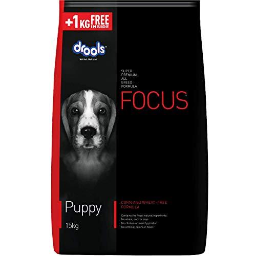Drools Focus Puppy Super Premium Dog Food, 15 kg (+1 kg Free Inside)