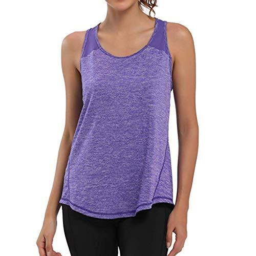 Camisetas Deporte Mujer Fitness, Camiseta Tirantes Mujer Gym Chalecos sin Mangas Mallas Verano Top Yoga Running Transpirable Racerback Tank Yvelands