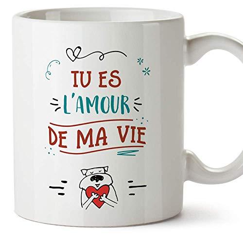 Mugffins Mug/Tasse Saint Valentin (Je t'aime) - tu ES l'amour de ma Vie - Idées Cadeaux Romantique pour Amoureux/Petits Amis/Copains
