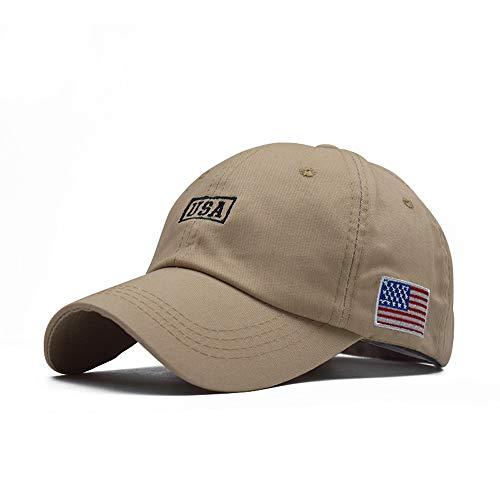 SACERKU American Flag hat,Tactical Embroidered Operator Cap,Baseball Cap for Men and Women (Khaki.)