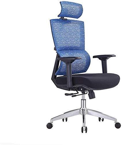 Tägliche Ausstattung Bürostühle Moderner einfacher Hubstuhl Drehstuhl Bürostuhl Bürostuhl Computerstuhl Ergonomisches Netz Bequemer Hüftstütze Bürostuhl (Farbe: Grau Größe: 86x64x33cm)
