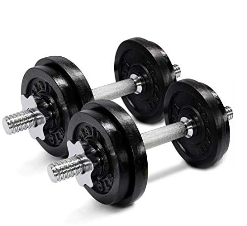 50 lbs Adjustable Cast Iron Dumbbells - ²D8UJZ