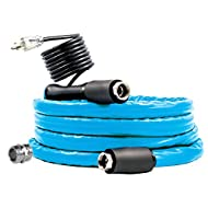 "Camco 12ft Cold Weather Heated Drinking Water Hose Can Withstand Temperatures Down to -40°F/C - Lead and BPA Free, Reinforced for Maximum Kink Resistance 1/2"" Inner Diameter (22921)"