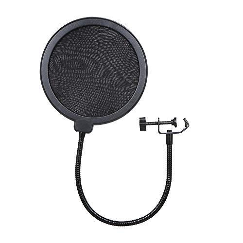 Docooler microfoonfilter Dual Layer zang voorruit Mic Studio-popfilter