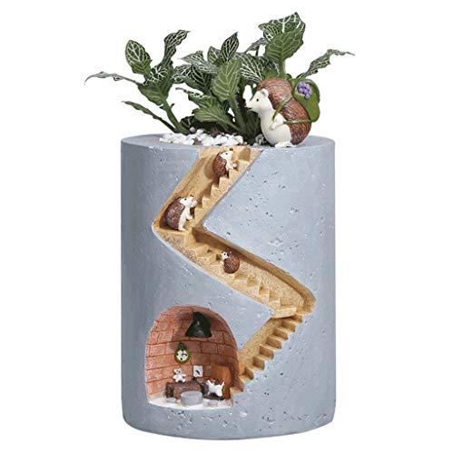 Outdoor Bloem Pot Mini Hars Succulente Potten Bloem Pot Landschap Decoratie Egel Hydroponische Plant Vleesachtige Container Vierkante Box Tuin Levering Bloem Pot