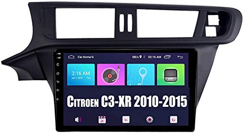 Auto Sat Nav Car Stereo Stereo 10 Pulgadas IPS Pantalla táctil Android 9.0 Compatible para Citroen C3-XR 2010-2015 SWC Online/Offline Map GPS Head Unit Player Multimedia Player,4 Core WiFi 1+16GB