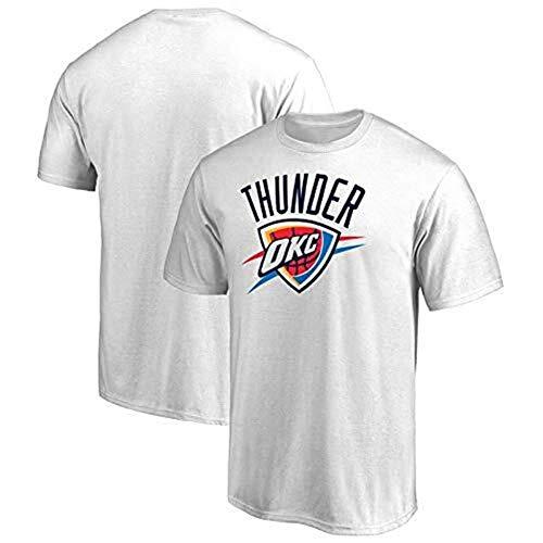 LLSDLS Camisetas de la NBA Oklahoma City Thunder Kobe Curry Jordan Durant Baloncesto Deportes Casual Cohete Manga Corta Camiseta de Secado rápido Camiseta (Color : White, Size : XL)