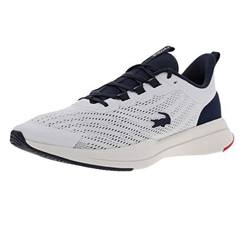 Lacoste Sport Herren Run Spin 0721 1 SMA Sneaker, Wht/NVY, 45 EU