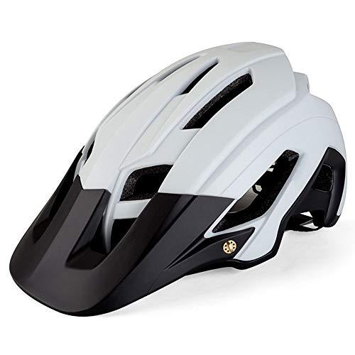 BeiQuan Adulto-Hombres-Mujeres Casco de la Bici - Carretera de montaña Casco de la Bicicleta con Almohadillas de Repuesto y Visera (Color : White)