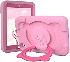 PZOZ Kids Case for Apple iPad Mini 4 5 7.9 inch, EVA Shockproof Rotate Handle Folding Stand Heavy Duty Protective Cute Boys Girls Cover for 4th Gen 5th Generation (Pink)
