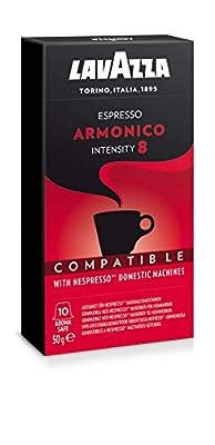 Lavazza Armonico Espresso, Coffee Capsules, Compatible with Nespresso Capsule Machines, 10 Coffee Capsules