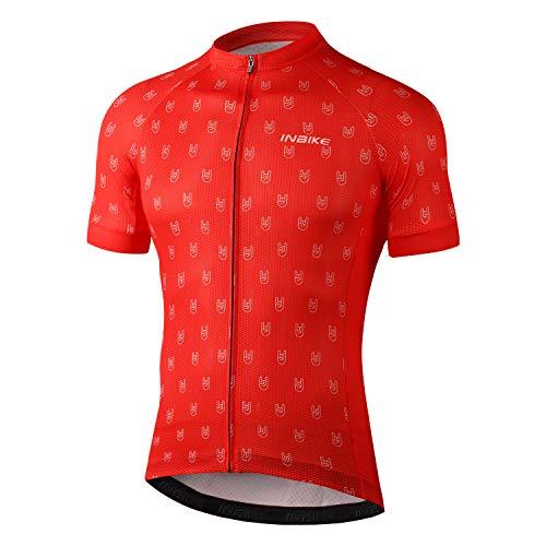 INBIKE Maillot Ciclismo Hombre Verano Camiseta Bicicleta Manga Corta 100% Poliéster con...