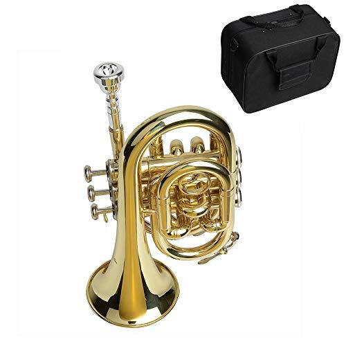 YUSDP Mini Trompeta BB de Bolsillo con Estuche rígido,