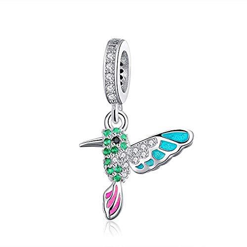Abalorio de plata de ley con diseño de pájaro para pulsera Pandora (abalorio de pájaro)