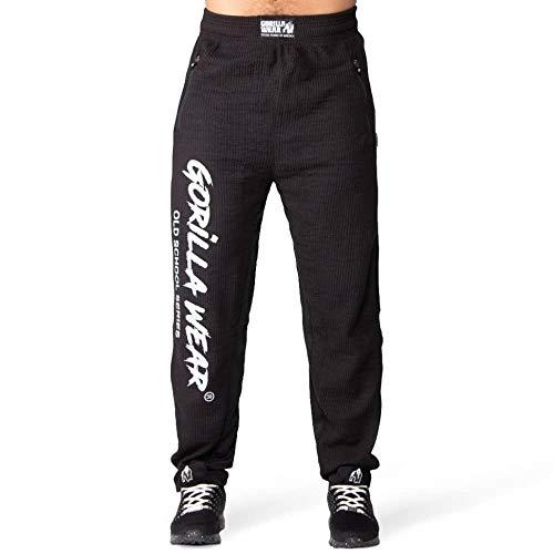 GORILLA WEAR - Bodybuilding Herren Hose Lang - Augustine - Old School Pants - Männer Sporthose Schwarz S/M