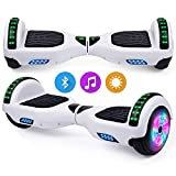 Hoverboard, Self Balancing Scooters 6,5 Pouces Segway Hover Scooter Board avec Musique Bluetooth,...