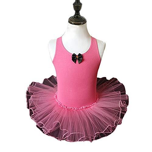 Meisjes schoonheidswedstrijd meisjes camisole balletjurk rokje tricot tutu jurk zonder mouwen kruis uithullen terug ballerina dance wear kostuum Kids Princess Skating Performance gymnastiek tricot