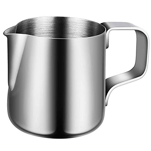 BESLIME Barista Aufschäumkännchen Espressokännchen 150ml Milchkanne aus Edelstahl, Milk Pitcher, Milch Aufschäumkännchen für Cappuccino und Latté