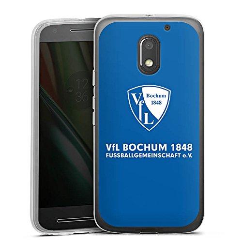 DeinDesign Silikon Hülle kompatibel mit Lenovo Moto E3 Hülle transparent Handyhülle VFL Bochum Offizielles Lizenzprodukt Fußball