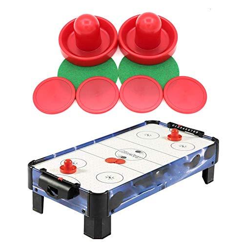 Lancei Air Hockey Ersatz 8 Stück Air Hockey Pucks und Drücker Set Air Hockey Kunststoff Zubehör für Spieltische