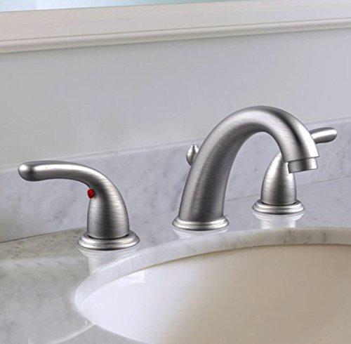 Glacier Bay 67364W-6A04 2-Handle High-Arc Bathroom Faucet in Brushed Nickel