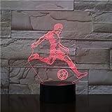 Football Club 3D Lámpara de mesa Fútbol LED Luz nocturna Decoración Regalo de vacaciones para niños