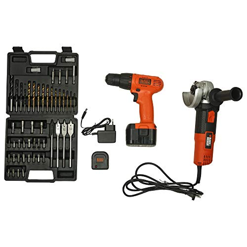 BLACK,DECKER Cordless Drill and Driver with Angle Grinder