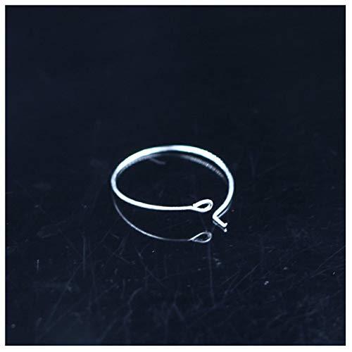 KAERMA sieraden accessoires Neun karakter oorbellen wijnglas hanger merk cirkelvormige oorring ring wijnglas ring, goud, zilver, wit K, 100 starts handgemaakte DIY sieraden