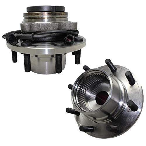 Detroit Axle - Pair (2) Front Complete Hub And Wheel Bearing Assembly W/ABS For 1999-2002 Ford F-250 F-350 Super Duty Excursion [Single Rear Wheel Coarse Threads 4x4 ONLY] - 2pc Set