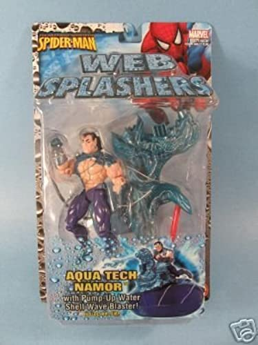 100% garantía genuina de contador Spider-Man Web Splashers HYDRO BLAST 2006 - Aqua Aqua Aqua Tech Namor MOC by Toy Biz  la calidad primero los consumidores primero