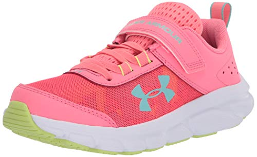 Under Armour Kids' Pre School Assert 8 Alternate Closure Sneaker, Eclectic Pink (601)/White, 2.5