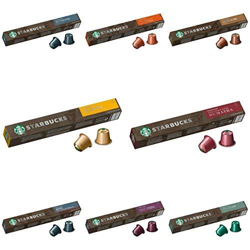 Nescafe Starbucks Nespresso Pods Pick N Mix 5 Pack (8 sabores a elegir) Lungo, Americano, Espresso y muchos más