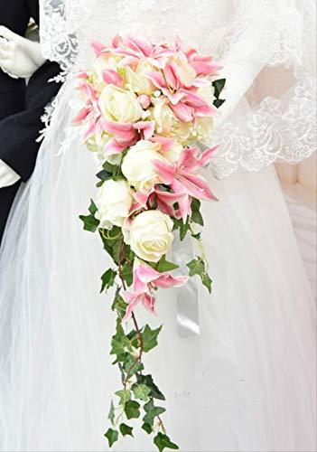 Handgemacht Bouquet Wasserfall Stil Hochzeit Blume Braut Bouquet Handgemachte Hochzeit Blumen