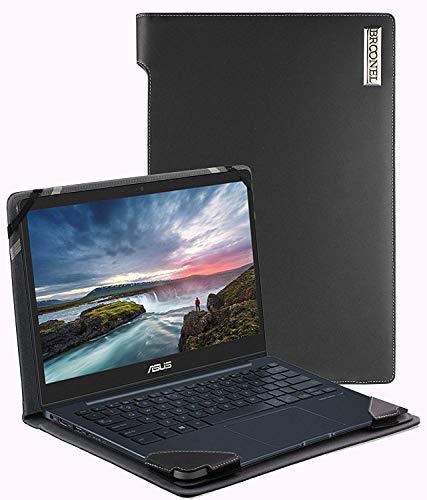 Broonel - Serie de perfiles - Estuche para De Cuero Negro Compatible con La ASUS Zenbook Pro 14 UX480