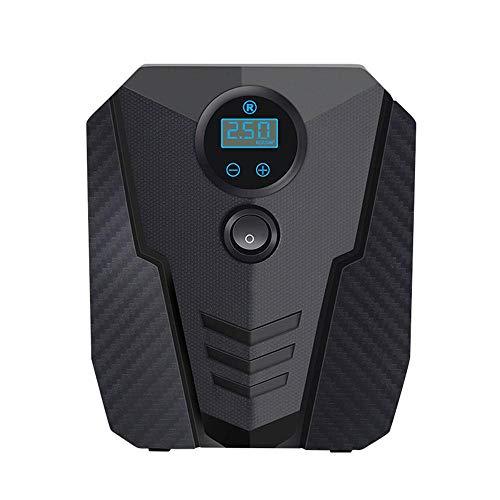 YTATY - Bomba de inflador de neumáticos, compresor de inflador de neumáticos portátil eléctrico con pantalla LED, inflador portátil para neumáticos de coches/motocicletas/bicicleta, apagado automático