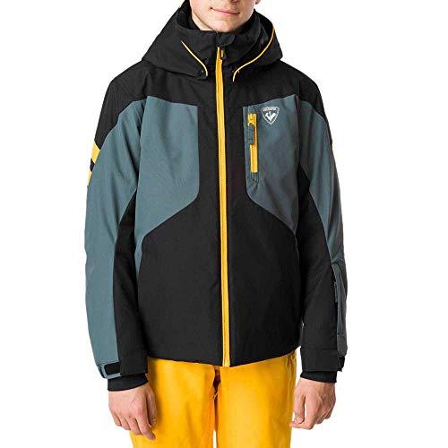 ROSSIGNOL Boy Course Jacket Giacca da sci per bambini, Bambino, RLIYJ04, Nero , 14 anni
