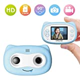 TOPELOTEK Kids Digital Camera, Mini Cute Children's Camera Camcorders 2 Inch Screen HD Digital Camera, 16GB TF Card Included, Creative Birthday Gifts for Kids (Blue)